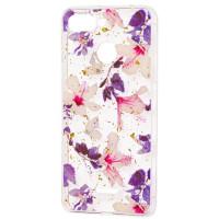 Силиконовый чехол Xiaomi Redmi 6 (фиолетовые цветы)