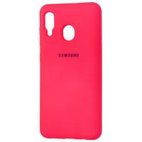 Чехол Silky Samsung Galaxy A30 (ярко розовый)