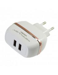 Сетевое зарядное устройство Konfulon C23 2.4 A 2USB (белый) + кабель Lightning