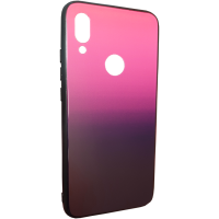 Чехол Glass Case Gradient Xiaomi Redmi Note 7 (Purple Barca)