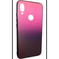 Чехол Glass Case Gradient Xiaomi Redmi Note 7 (Purple Barca)