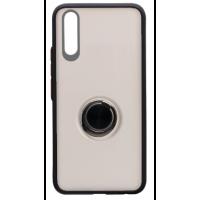 Чехол LikGus Maxshield матовый Samsung A50/A50s/A30s с держателем на палец (черный)
