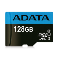 Карта памяти Adata micro-SDHC 128 GB (10cl) + SD adapter