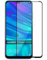 Скло Huawei P SMART 2019 (5D Black) 0.33mm
