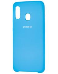 Чехол Silky Samsung Galaxy A20/A30 (голубой)