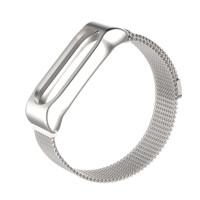 Ремешок для Xiaomi Band 3 Milanese Loop-магнит (серебряный)
