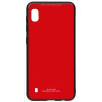 Чехол Glass Case Samsung Galaxy A10 (красный)