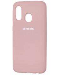 Чехол Silicone Case Samsung A40 (пудровый)