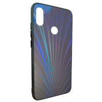 Чехол Glass Case Rainbow Xiaomi Redmi Note 7 (синий)