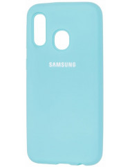 Чехол Silicone Case Samsung A40 (бирюзовый)