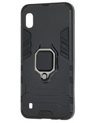 Чехол Armor + подставка Samsung Galaxy A01 (черный)