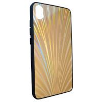 Чехол Glass Case Rainbow Xiaomi Redmi 7a (золотой)