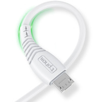 Кабель T-PHOX Nature T-M830 Micro USB 3A 1.2m (белый)