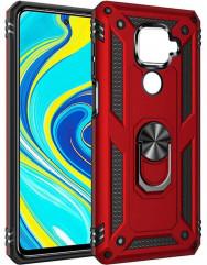 Чохол Serge Ring + підставка Xiaomi Redmi Note 9 (червоний)
