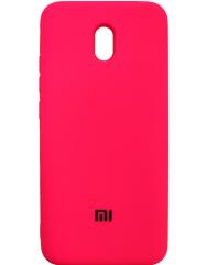 Чохол Silicone Case Xiaomi Redmi 8a (малиновий)