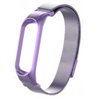 Ремешок для Xiaomi Band 5 Metal Magnit (Violet)