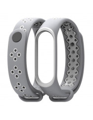 Ремінець для Xiaomi Band 3/4 Mijobs Sport (gray-white)
