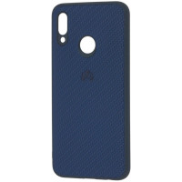 Чехол Premium Carbon Huawei P Smart 2019 (синий)