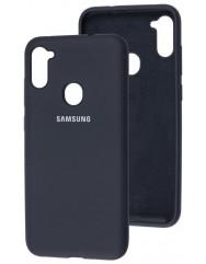 Чехол Silicone Case Samsung Galaxy A11 / M11 (черный)