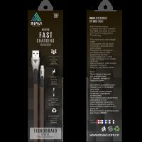 USB cable INAVI microUSB JEANS (TBF) (синий)
