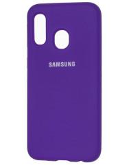 Чехол Silicone Case Samsung A40 (фиолетовый)