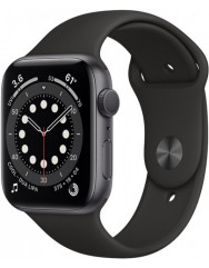 Apple Watch Series 6 44mm Space Gray Aluminium Case with Black Sport Band (M00H3UL/A)