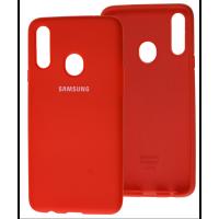 Чехол Silicone Case Samsung Galaxy A20s (красный)