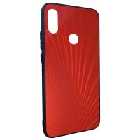 Чехол Glass Case Rainbow Xiaomi Redmi Note 7 (красный)