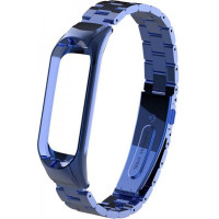 Ремешок для Xiaomi Band 3/4 Metal (Blue)