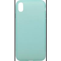 Чехол силиконовый Latex матовый iPhone X/XS (бирюза)