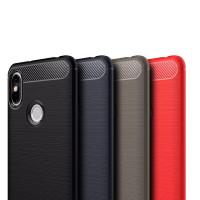 Чехол Carbon Xiaomi Redmi S2 (синий)