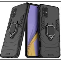 Чехол Armor + подставка Samsung Galaxy A31 (черный)