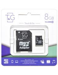 Карта пам'яті T&G 8gb (10cl) + adapter