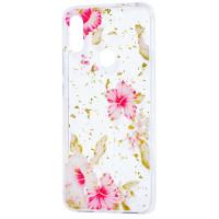 Силиконовый чехол Xiaomi Redmi 7 (розовые цветы)