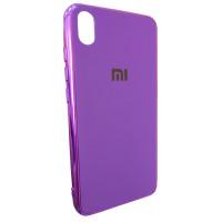 Чехол Glass Case Mi Xiaomi Redmi 7a (фиолетовый)