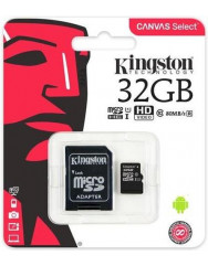 Карта памяти Kingston micro SD 32gb (10cl) + адаптер