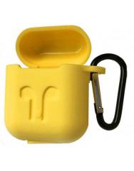 Чохол для AirPods Colors з карабіном (жовтий)
