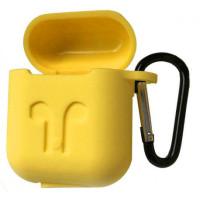 Чехол для AirPods Colors с карабином (желтый)