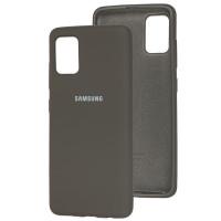 Чехол Silicone Case Samsung Galaxy A51 (серый)