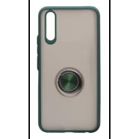 Чехол LikGus Maxshield матовый Samsung A50/A50s/A30s с держателем на палец (зеленый)
