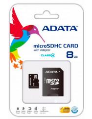 Карта памяти Adata micro SD 8gb (4cl) + SD adapter