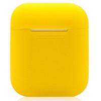 Чехол для Airpods силиконовый (желтый)