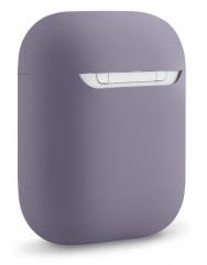 Чехол для Airpods силиконовый (серый)