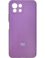 Чохол Silicone Case Xiaomi Mi 11 Lite (бузковий)
