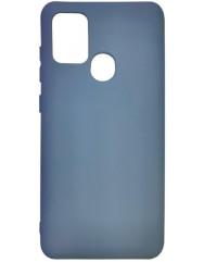 Чохол Silicone Case Samsung Galaxy A21s (темно-синій)