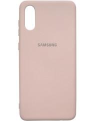 Чохол Silicone Case Samsung A02 (бежевий)