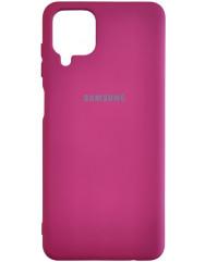 Чохол Silicone Case Samsung A12 (бордовий)