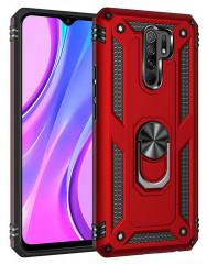 Чохол Serge Ring + підставка Xiaomi Redmi 9 (червоний)