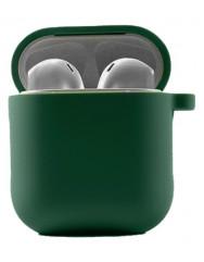 Чохол для AirPods 1/2 з мікрофіброю (зелений)