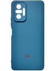 Чохол Silicone Case Xiaomi Redmi Note 10 Pro (темно-синій)